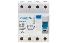 Автомат Federal 4P 63A 30mA FK 3-360