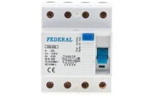 Автомат Federal 4Р 25A 30mA FK 3-325