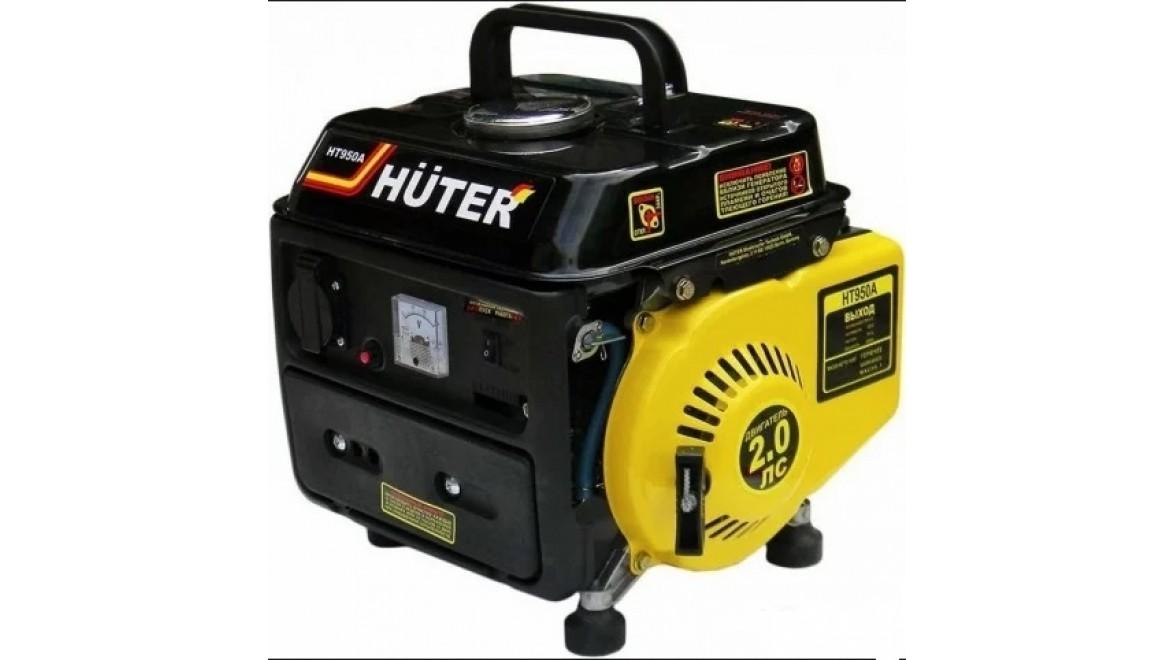 Электрогенератор бензиновый huter ht950a 650 ватт