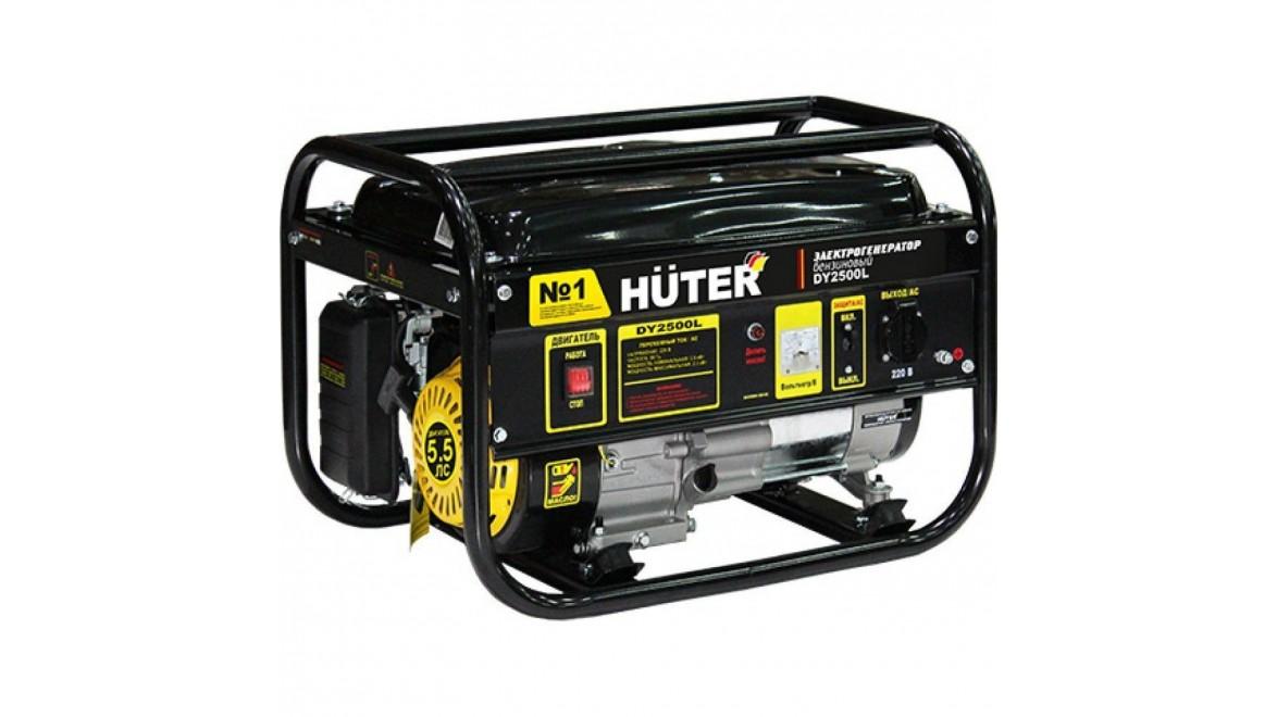 Электрогенератор бензиновый huter dy2500l 2 квт