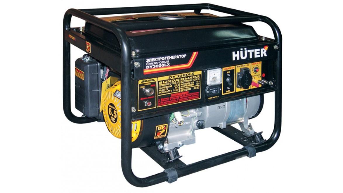 Электрогенератор бензиновый huter dy3000lx 2,5 квт