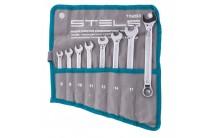 Набор ключей комбинированных 8 шт, 8-19 мм, антислип Stels 15283