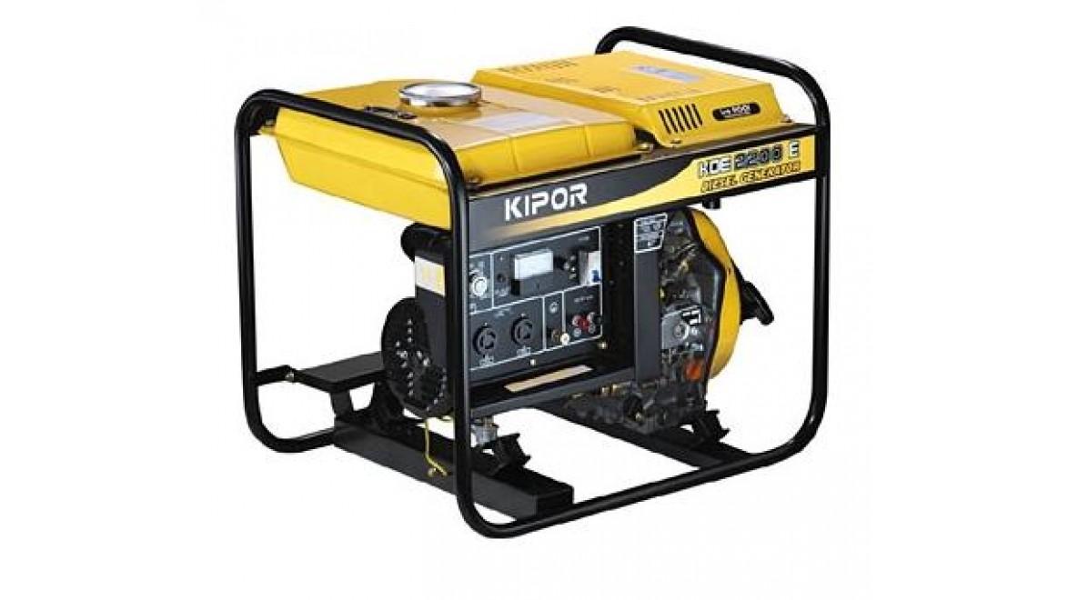 Дизельный генератор kipor kde2200e 1.7квт(230/12в)электростартер