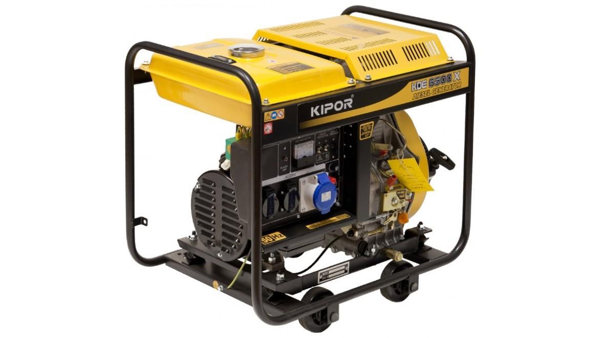 Дизельный генератор kipor kde6500x 4.5квт(230/12в)
