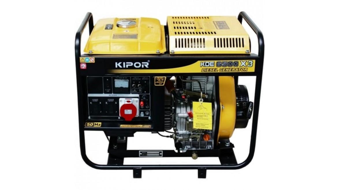 Дизельный генератор kipor kde6500x3 4.5квт(400/230 в)