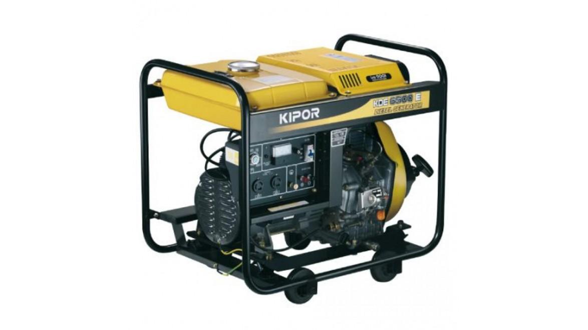 Дизельный генератор kipor kde6500e 4.5квт(230/12в)