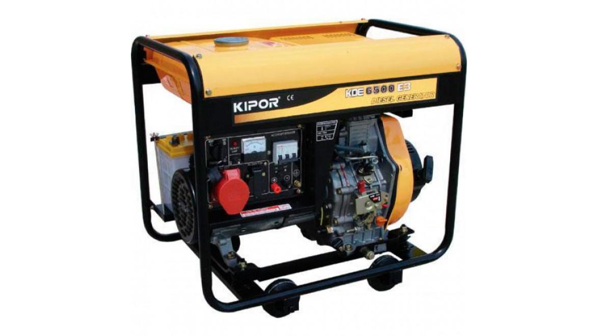 Дизельный генератор kipor kde6500e3 4.5квт(400/230 в)