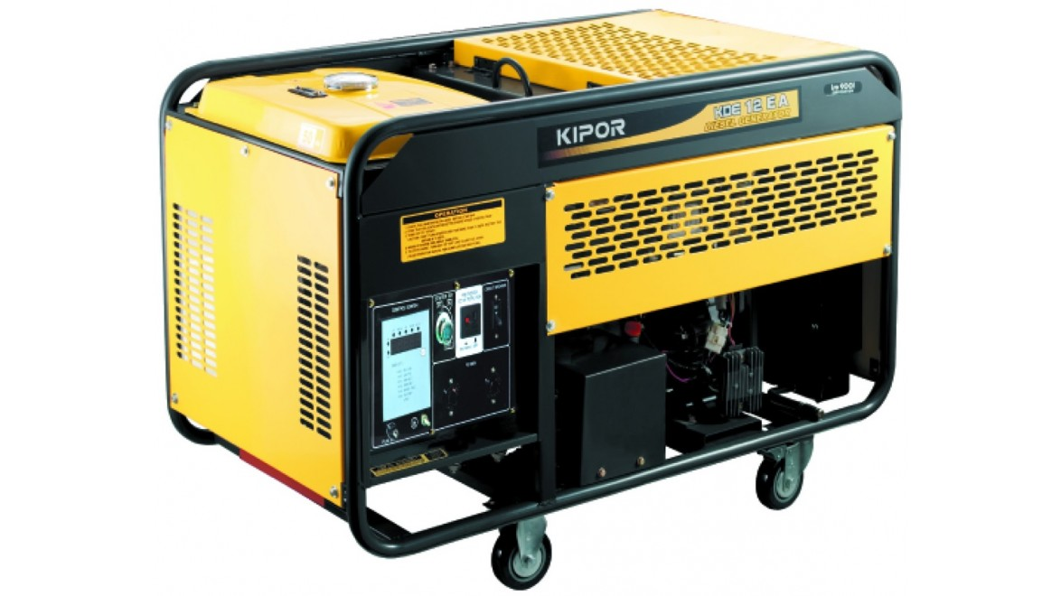 Дизельный генератор kipor kde12ea 8.5квт(1ф х 220в) +авр