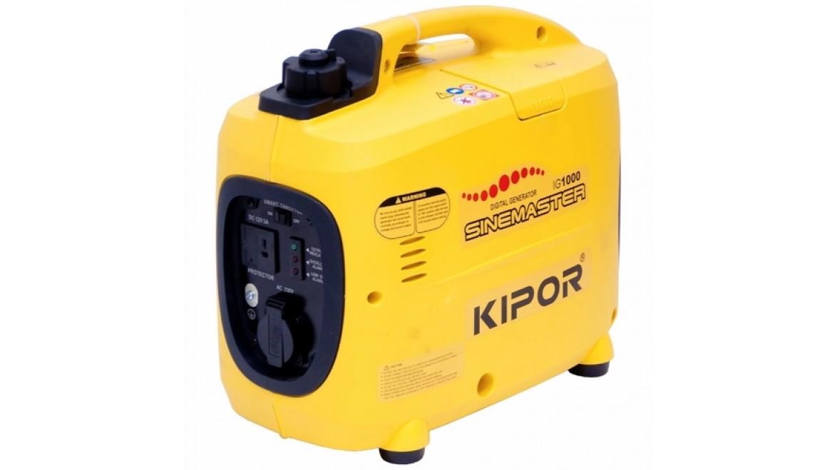 Цифровой бензиновый генератор kipor ig1000<br />