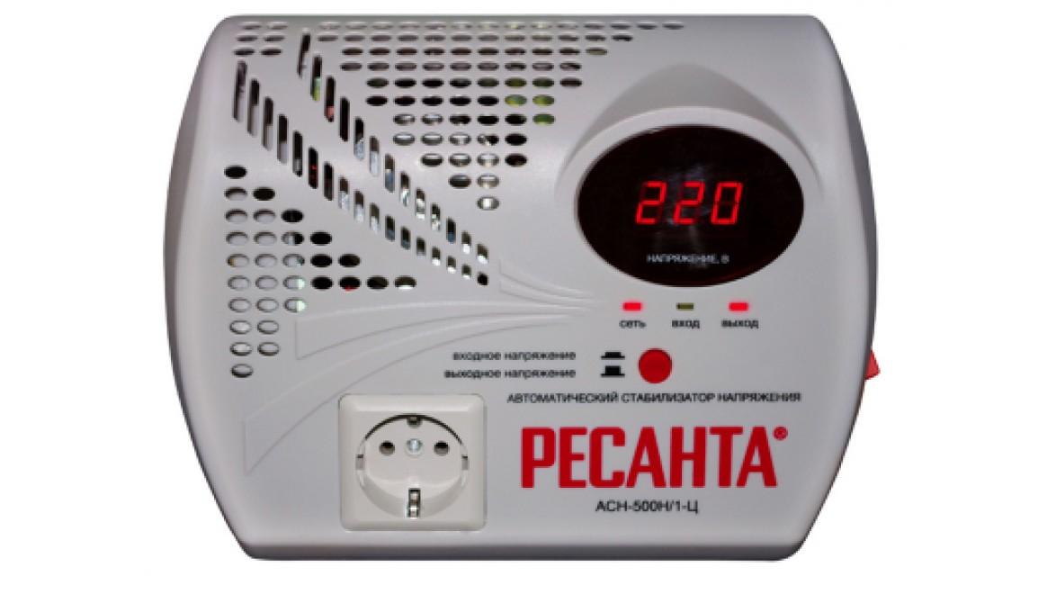 Стабилизатор 500/1 АСН Ц (НАСТЕННЫЙ) Ресанта
