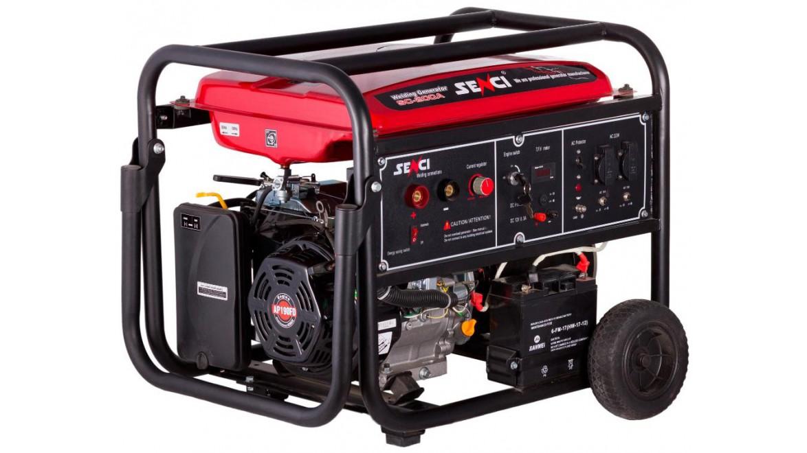 Senci sc-200a электрогенератор бензиновый с функцией сварки