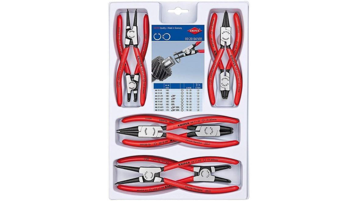 Комплект щипцов KNIPEX (для стопорных колец) 00 20 04 V01